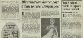 Bharatnatyam dancer pays tribute to rebel Bengali poet