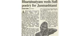 Bharatnatyam weds Sufi poetry for Janmashtami